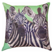Zebra 3 Amigos Indoor Outdoor Throw Pillow | SL3ZEB