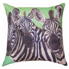 Zebra 3 Amigos Indoor Outdoor Throw Pillow | SL3ZEB