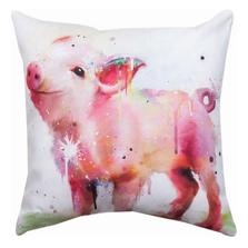Pig Indoor Outdoor Throw Pillow | SL8PIG