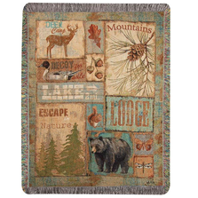 Vintage Outdoors Tapestry Throw Blanket | ATVINT