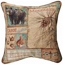 Bear Mountains Tapestry Pillow | TLVIOU
