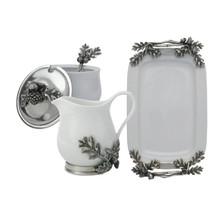 Acorn and Oak Leaf Creamer Set | Vagabond House | L317