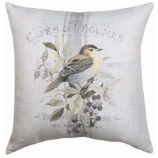 Yellow Bird and Blue Jay Reversible Throw Pillow | SLVLYB