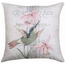 Hummingbird Reversible Throw Pillow | SLVLHB