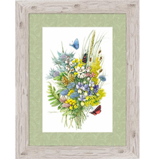 "Butterfly Framed Print ""Wildflower Riches"" 