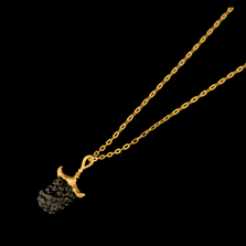 "Blackberry 16"" Adjustable Single Drop Pendant Necklace 