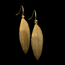 Cordyline Leaf Wire Earrings   Michael Michaud   3322BZ