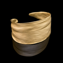 Cordyline Gold Leaf Cuff Bracelet | Michael Michaud | 7286BZ