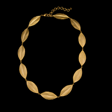 "Cordyline 16"" Adjustable Leaf Collar Necklace   Nature Jewelry   Michael Michaud   9231BZ"