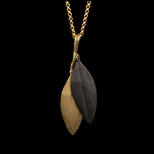 "Cordyline 20"" Adjustable Double Leaf Pendant Necklace 