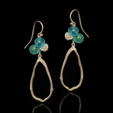 Drift Away Dangle Wire Earrings   Nature Jewelry   Michael Michaud   3331S