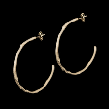 Drift Away Sterling Hoop Post Earrings | Nature Jewelry | Michael Michaud | 3333S
