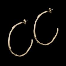 Drift Away Sterling Hoop Post Earrings   Nature Jewelry   Michael Michaud   3333S