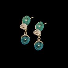 Drift Away Pebble Sterling Post Earrings   Nature Jewelry   Michael Michaud   3332S