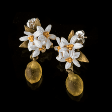 Lemon Drop Post Earrings | Nature Jewelry | Michael Michaud | 3317BZ