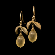 Lemon Drop Dainty Wire Earrings | Nature Jewelry | Michael Michaud | 3316BZ