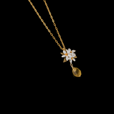 Lemon Drop Flower Pendant Necklace | Nature Jewelry | Michael Michaud | 9222BZ