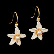 Orange Blossom Flower Wire Earrings | Nature Jewelry | Michael Michaud | 3325BZ