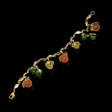 Citrus Fruit Charm Bracelet | Nature Jewelry | Michael Michaud | 7287BZ