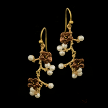 Ume Branch Dangle Wire Earrings   Nature Jewelry   Michael Michaud   3335BZ