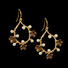 Ume Oval Dangle Wire Earrings | Nature Jewelry | Michael Michaud | 3334BZ