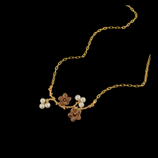 Ume Branch Pendant Necklace   Nature Jewelry   Michael Michaud   9260BZ