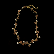 Ume Blossom Statement Necklace | Nature Jewelry | Michael Michaud | 9252BZ