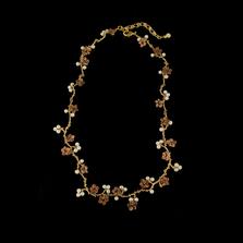 Ume Blossom Statement Necklace | Nature Jewelry | Michael Michaud | 9252BZ