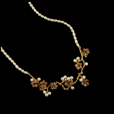 Ume Blossom Pearl Necklace | Nature Jewelry | Michael Michaud | 9250BZ
