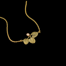 Water Lily Dainty Pendant Necklace | Nature Jewelry | Michael Michaud | 9259BZ