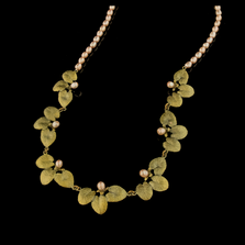 Water Lily Pearl Necklace | Nature Jewelry | Michael Michaud | 9257BZ