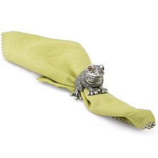 Toad Napkin Ring Set of Four | Vagabond House | G115TD-4