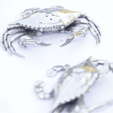 Blue Crab Salt Pepper Shakers | Vagabond House | O116B