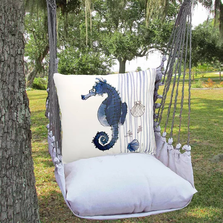 "Seahorse Hammock Chair Swing ""Latte"" | Magnolia Casual | MCLTRR916-SP"