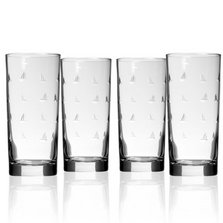 Sailing Iced Tea Glass Set of 4 | Rolf Glass | 522012