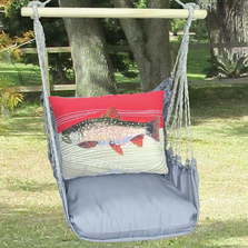 Trout Hammock Chair Swing Gray | Magnolia Casual | GRRR901-SP