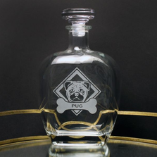 Pug Glass Decanter | Rolf Glass | 365800