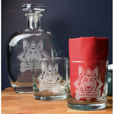 German Shepherd Whiskey Decanter Gift Set | Rolf Glass | 363905