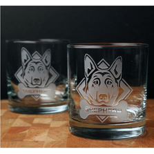 German Shepherd Rocks Glass Set of 4 | Rolf Glass | 363684