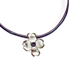 Dogwood Flower White Chocolate Pendant Necklace | Elaine Coyne Jewelry | NCW8404PD
