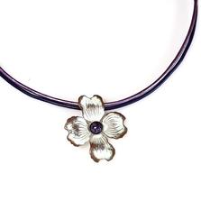 Dogwood Flower White Chocolate Pendant Necklace   Elaine Coyne Jewelry   NCW8404PD