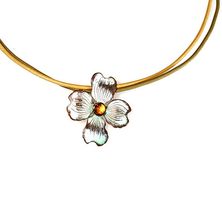 Dogwood Flower Pendant Necklace | Elaine Coyne Jewelry | NCW8404PDCI