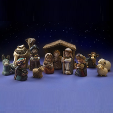 Ceramic Nativity Figurine 13 Piece Set | De Rosa| nativity13pc