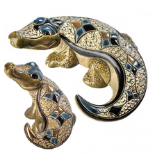 Nile Crocodiles Family Ceramic Figurine Set of 2 | De Rosa | F162-F362
