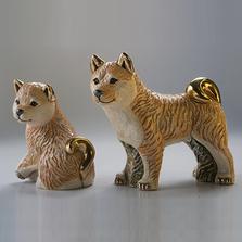Shiva Family Ceramic Figurine Set of 2   De Rosa   F212-F412