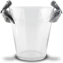 Pelican Pewter Handle Glass Ice Bucket | Vagabond House | O126PL