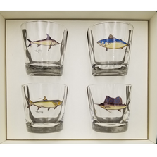 Game Fish Optic Double Old Fashioned Glass Set | Richard Bishop | 3026GF