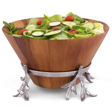Olive Wood Salad Bowl | Arthur Court Designs | 218O11