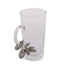 Lemon Bouquet Glass and Pewter Pitcher | Vagabond House | G457L