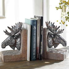 Moose Sculptural Bookends | 48137 | SPI Home